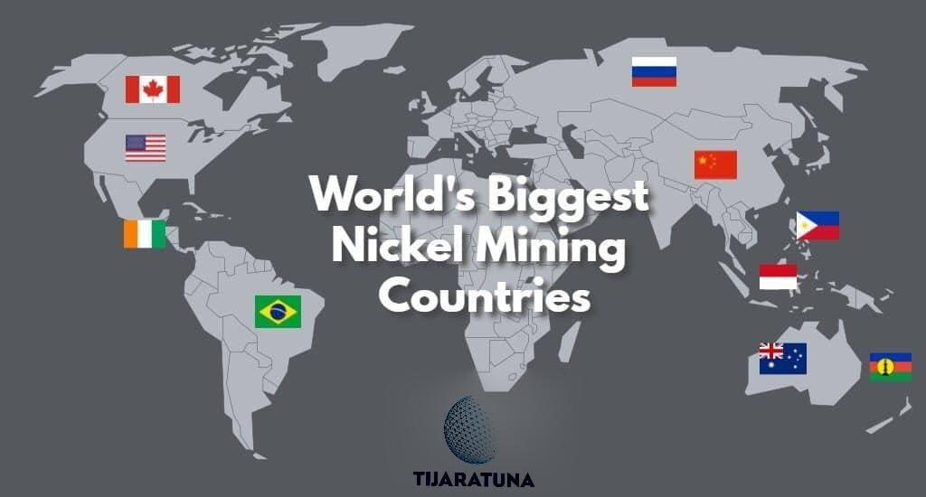 أكبر الدول المنتجة للنيكل