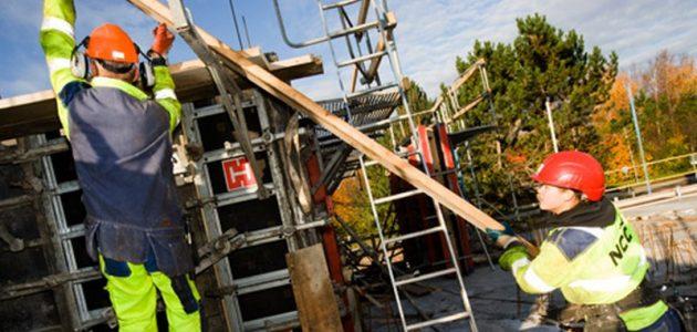 مشروع أعمال البناء في السويد