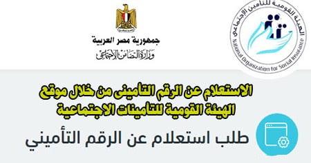 كيفية الاستعلام عن معاش التأمينات بالرقم القومي في مصر .