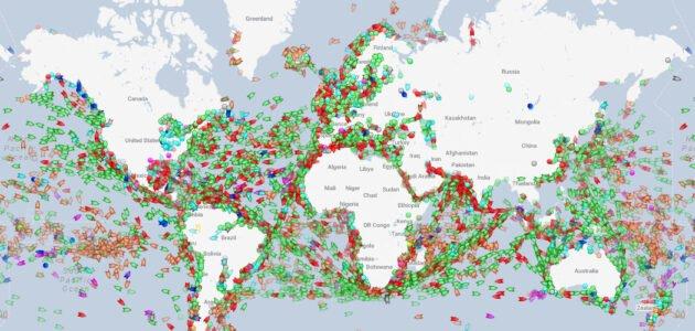 ما هي طريقة تتبع الباخرة في البحر