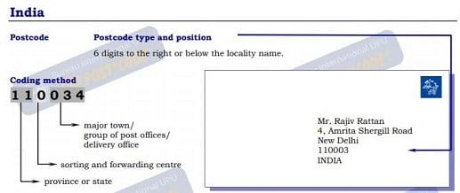 الرمز البريدي الهند ✉️ Postal code ZIP code India