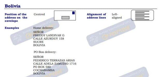 الرمز البريدي بوليفيا ✉️ Postal code ZIP code Bolivia